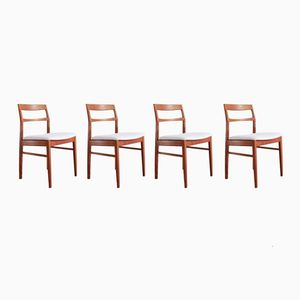 Mid-Century Teak Dining Chairs by Henning Kjaernulf for Vejle Møbelfabrik, Set of 4
