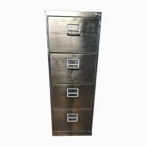 Vintage Industrial Stripped Metal Filing Cabinet