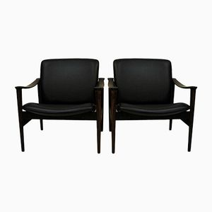 Rosewood 711 Lounge Chairs by Fredrik Kayser for Vatne Lenestolfabrikk, 1960s, Set of 2