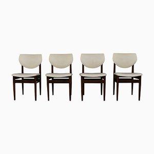 Esszimmerstühle mit Gestell aus Wengeholz, 1960er, 4er Set