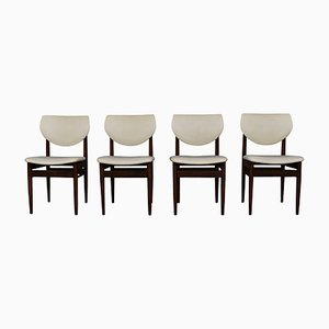 Wenge Dining Room Chairs, 1960s, Set of 4