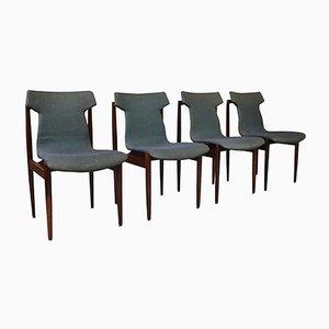 Esszimmerstühle aus Palisander von Inger Klingenberg für Fristho, 1960er, 4er Set