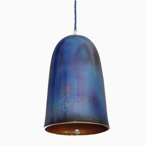 Pfauenblau glänzende Plex Hängelampe von Carmen Lyngard für Lyngard
