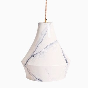 Hand-Painted Marble Lantern by Carmen Lyngard for Lyngard