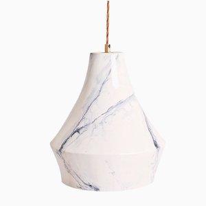 Lanterna in marmo dipinto a mano di Carmen Lyngard per Lyngard