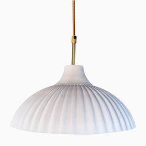 Lampe à Suspension Rialto Blanc avec Intérieur en Or 24 Carats par Carmen Lyngard pour Lyngard