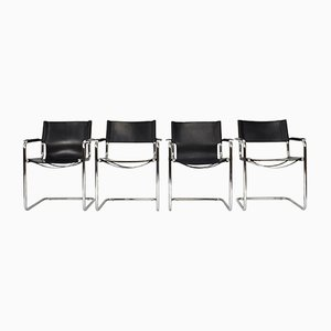 Bauhaus MG5 Chairs by Mart Stam for Matteo Grassi, 1970s, Set of 4