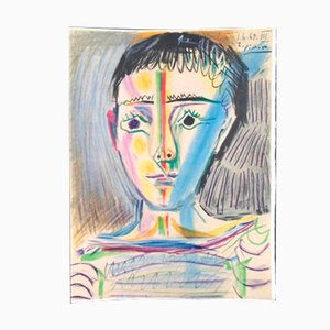 Lithographie Man With Sailor Blouse par Pablo Picasso pour Les Heures Claires, 1965