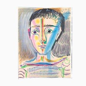 Litografia Man With Sailor Blouse di Pablo Picasso per Les Heures Claires, 1965