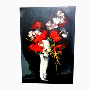 Flowers Lithograph by Maurice de Vlaminck for Les Heures Claires, 1965
