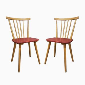 Mid-Century Chairs from Erich Hiller and Co., Set of 2