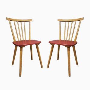 Mid-Century Stühle von Erich Hiller & Co., 2er Set