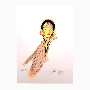 Parisienne Lithograph by Jean-Gabriel Domergue, 1956