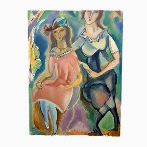 Lithographie Femininity par Jules Pascin pour Les Heures Claires, 1965