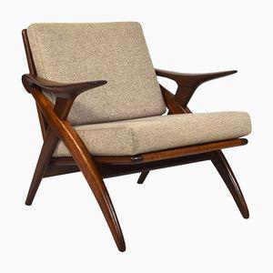 Sessel mit Gestell aus Teak von De Ster Gelderland,1960er