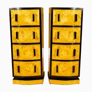 Art Deco Rosewood & Maple Dressers, 1930s, Set of 2
