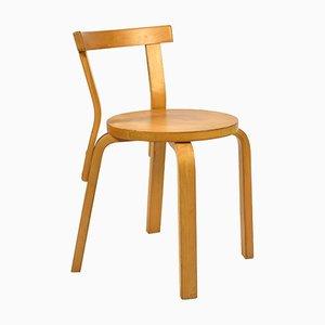 Modell 68 Stuhl von Alvar Aalto für Artek, 1970er