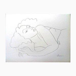 Woman in Repose Lithografie von Henri Matisse für Fabiani, 1943
