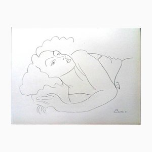 Woman in Repose Lithograph by Henri Matisse for Fabiani, 1943