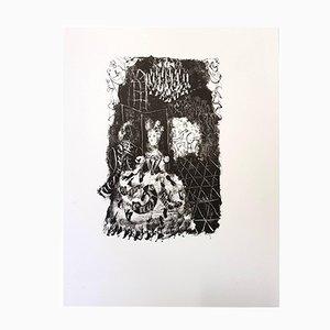 Lithographie For Pushkin's Queen of Spades par Antoni Clavé pour du Pré aux Clercs, 1946