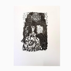 Litografia For Pushkin's Queen of Spades di Antoni Clavé per du Pré aux Clercs, 1946