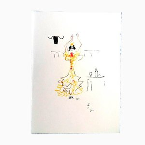 Litografia Carmen di Jean Cocteau, 1961