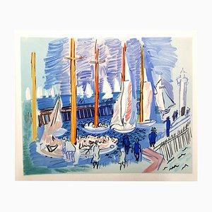 Lithographie Boats par Raoul Dufy, 1965
