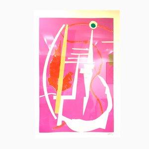 Lithographie Abstract Rose Composition par André Lanskoy, 1960s