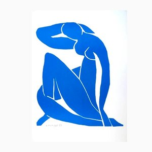 Sleeping Blue Nude Lithograph by Henri Matisse, 1952