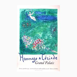 Lithographie Hommage à Tériade Grand Palais par Marc Chagall & Charles Solier, 1973