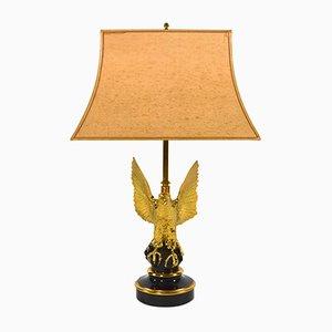 Lámpara de mesa chapada en oro de 24 quilates de Deknudt, años 70