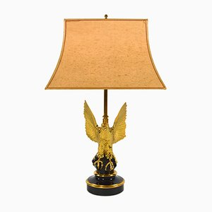 Vintage 24-Karat Gilded Table Lamp from Deknudt, 1970s