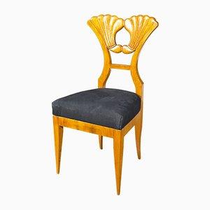 Biedermeier Cherry Desk Chair, 1830s