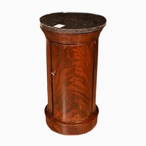 Antiker Biedermeier Nachttisch aus Mahagoni & Marmor, 1835