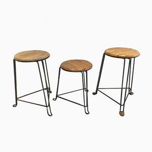 Vintage Industrial Stool by Jan van der Togt for Tomado