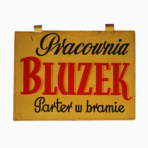 Vintage Polish Blouse Workshop Advertising Sign