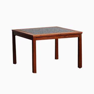 Danish Teak & Ceramic Tile Coffee Table, 1972