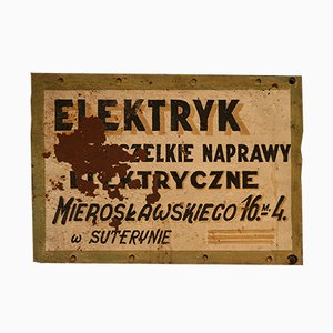 Vintage Polish Repair Shop Advertising Sign