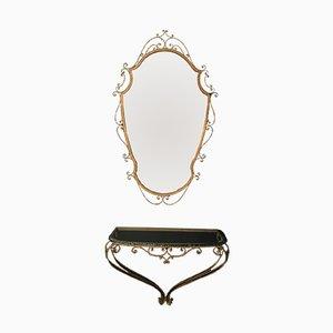 Consolle e specchio vintage di Pier Luigi Colli