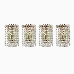 Lámparas de pared de cristal de J. & L. Lobmeyr, años 50. Juego de 4