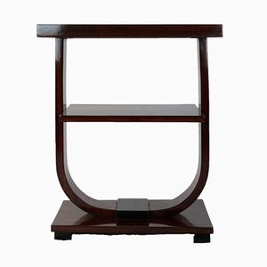 Art Deco French Rosewood and Black Lacquer Side Table, 1920s