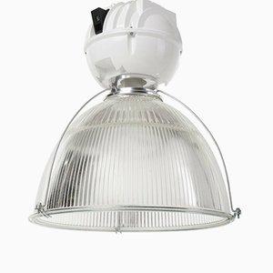 Lampe de Loft Industrielle Vintage en Verre & en Métal de Holophane, 1980s