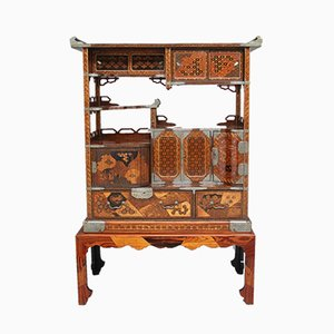 19th Century Japanese Marquetry Cabinet