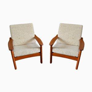 Dänischer Sessel aus Teak & Wolle von Glostrup, 1970er