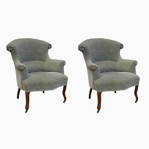 Antique French Tub Chairs, Set Of 2