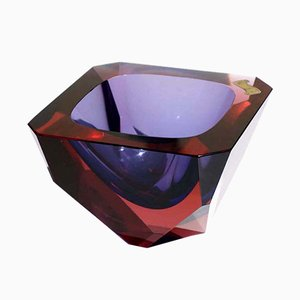 Murano Glass Ashtray by Flavio Poli for Seguso Sommerso, 1960s