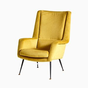Mid-Century Danish Yellow Lounge Chair, 1960s
