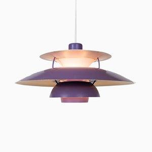 Lampe à Suspension PH5 Vintage Violette par Poul Henningsen pour Louis Poulsen