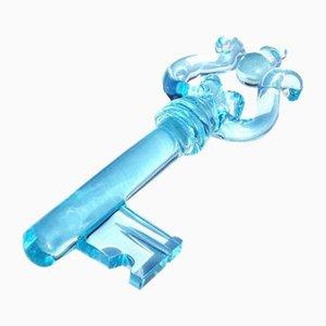 Pisapapeles italiano en forma de llave de cristal, años 60