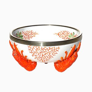 Art Nouveau Lobster Pottery Porcelain Bowl from WMF